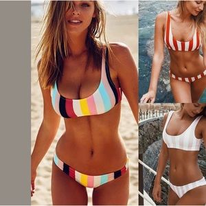 Other - Colorful striped swimsuit